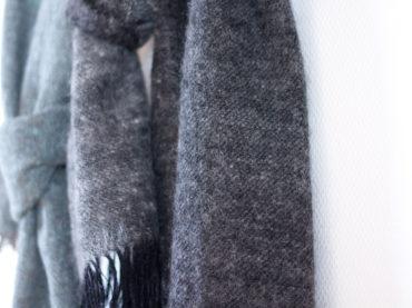 Handwoven wool shawls made in handspun yarn